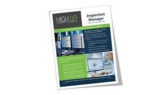 High QA Inspection Manager Brochure