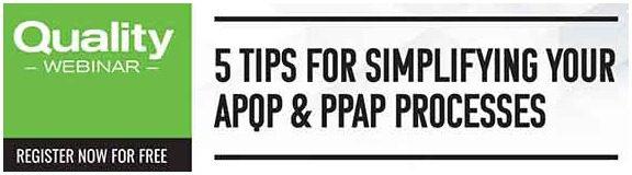 High QA and Quality Magazine APQP/PPAP Webinar